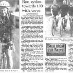 Ron cycles towards 100 with verve