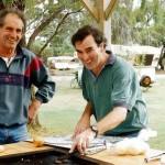 John with Martin Boas at Minlaton Caravan Park