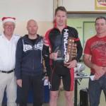 L-R:  Leen Nieuwenhoven (Club Santa), David Grigg, Kristian Schmidt, Andrew van Arend