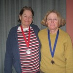 L-R:  Kath Jones, Pat McCrohan