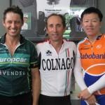 L-R:  Bill Woods, Paz Russo, Zheng Li