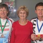 L-R:  Don Harvey, Carlien Doecke (Patron), Steve Kinder