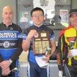 L-R:  Paul Mitchell, Zheng Li, Andrew van Arend