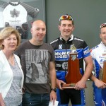 L-R:  Barry & Nula Watt (MS Trophy donors), Brett Aitken (Retts Syndrome), Matt Stones, Neil McKenzie, Susie Dimaline (MS Society)