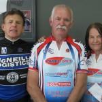 L-R:  Steve Kinder (Sponsor), Robert Benson, Kath Jones