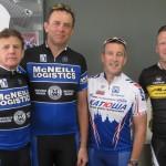 L-R:  Steve Kinder (Sponsor), Brenton Thain, Neil McKenzie, Jonathan Skogstad