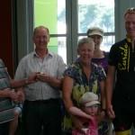 L-R:  Bob Cotton (Chief Referee & Life Member);  Raey de Ross, Kath de Ross, ??, Jason de Ross Grandchildren in front - ?? and ??