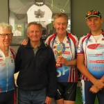 L-R:  Brian Hargreaves, Bob Cotton (Sponsor), John Page, Brenton Thain