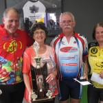 Div 2 L-R: Lindsay Davie, Sheila Cotton, Kath Jones, Bob Benson