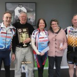 L-R:  C Maddern, L Nieuwenhoven, K Jones, Dot & Graham Rootes